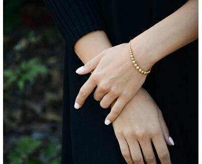 Nastavitelný náramek ve zlaté barvě