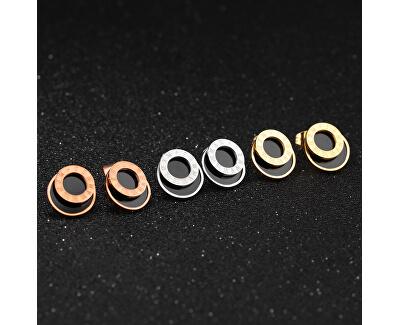 Ocelové náušnice s římskými číslicemi