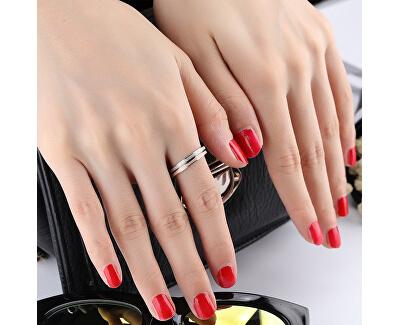 Ocelový třpytivý prsten