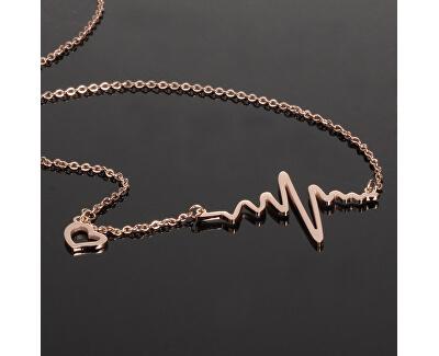 Originální náhrdelník Srdeční tep KNSC-253