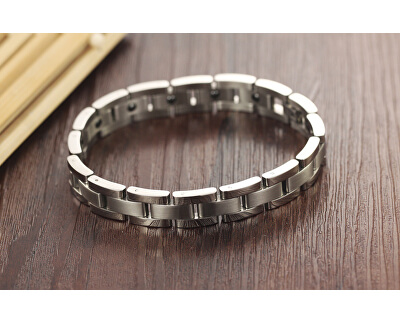Pánský ocelový náramek s energetickými magnety