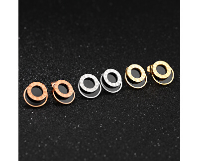Pozlacené ocelové náušnice s římskými číslicemi