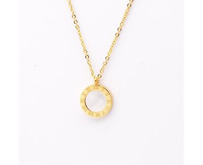 Pozlacený náhrdelník s oboustranným přívěskem