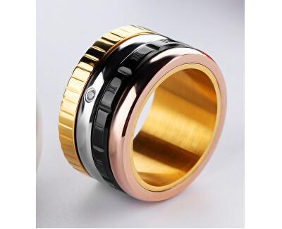 Čtyřbarevný ocelový prsten