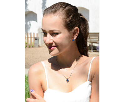 Sada náhrdelníka a náušníc Chaton Wave Capri Blue