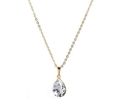 Náhrdelník Pear 14 mm Crystal