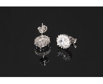 Třpytivé náušnice s čirými krystaly