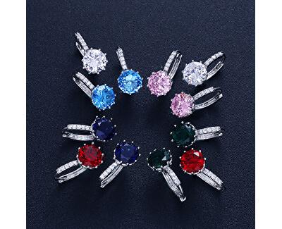 Třpytivé náušnice s růžovým krystalem