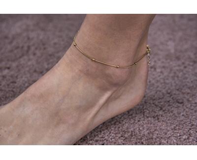 Bronzový kuličkový řetízek na nohu