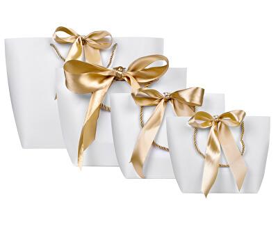 Darčeková taška so zlatou stuhou S