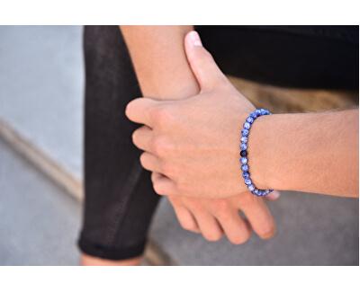 Korálkový náramek z modrého jaspisu a onyxu
