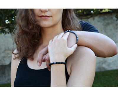 Korálkový náramek z onyxu a modrého jaspisu