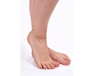 Ocelový řetízek na nohu se srdíčkem