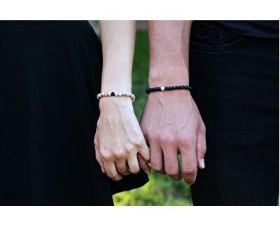 Partnerské náramky z onyxu a růžového jaspisu
