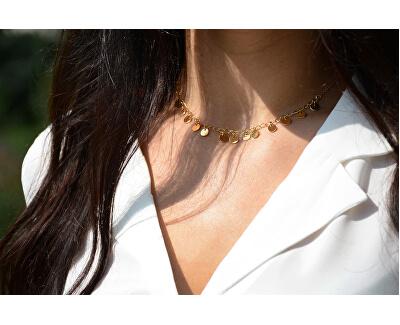 Penízkový náhrdelník z pozlacené oceli
