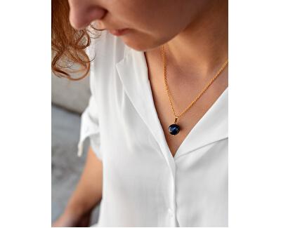 Pozlacený náhrdelník s lazuritem