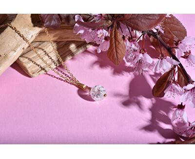 Pozlacený náhrdelník s matným onyxem