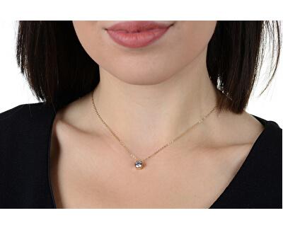 Pozlacený ocelový náhrdelník s hexagonem