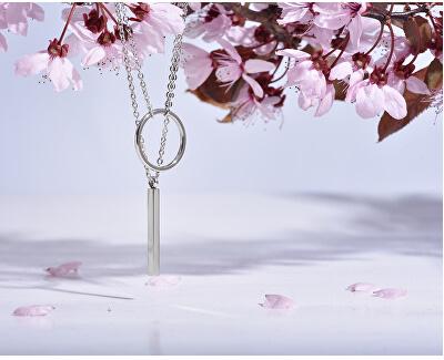 Placat cu aur roz cu design elegant colier