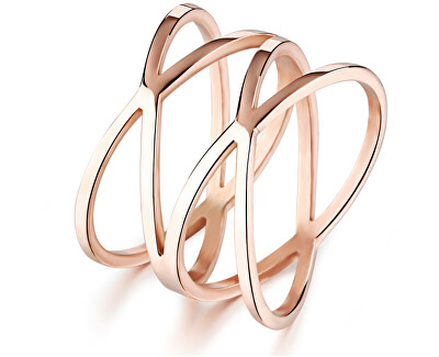 Troli Romantický bronzový prsten z oceli KRS-275