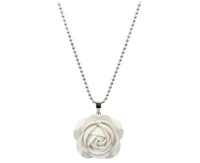 Troli Bílý náhrdelník kytička