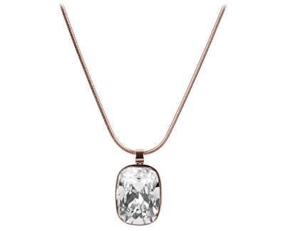 Troli Bronzový náhrdelník Cushion Crystal