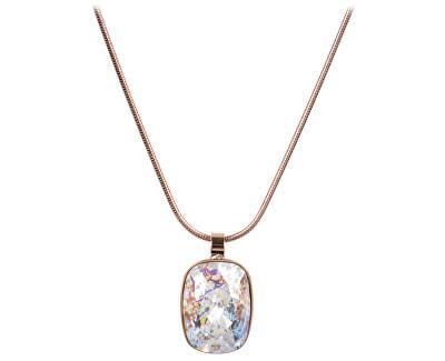 Troli Bronzový náhrdelník Cushion White Patina