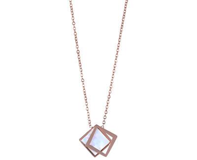 Bronzový náhrdelník s perleťovým dvojitým přívěskem