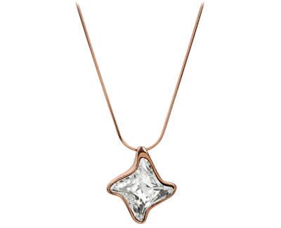 Troli Bronzový náhrdelník Twister Crystal