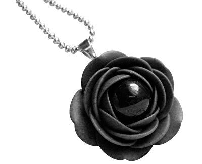 Fekete nyaklánc fekete gyöngyvirágokkal