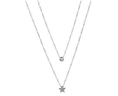 Dvojitý náhrdelník s hvězdičkou z oceli
