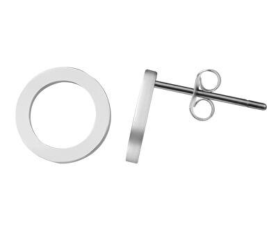 Jednoduché ocelové náušnice Kroužky