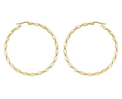 Kruhové pozlacené náušnice 2 - 5 cm