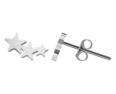 Moderní ocelové náušnice s hvězdičkami