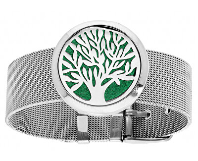 Multifunkční ocelový náramek Strom života s vyměnitelným středem 122473
