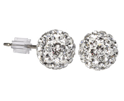 Náušnice Ball PU08 Crystal