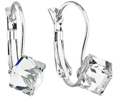 Troli Náušnice Cube Crystal