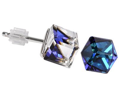 Troli Náušnice s puzetkou Cube Bermuda Blue
