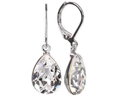 Náušnice Pear 14 mm Crystal