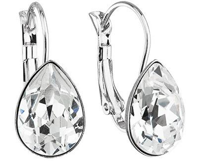 Troli Visiace náušnice Pear Crystal