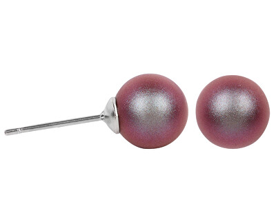 Náušnice Pearl Iridescent Red