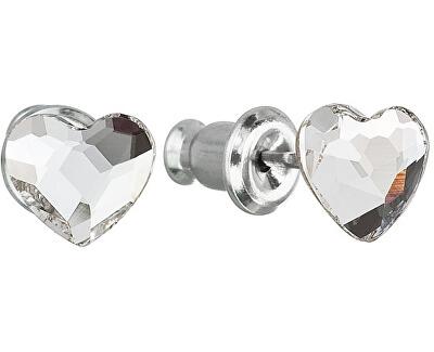 Troli Náušnice Srdce Crystal