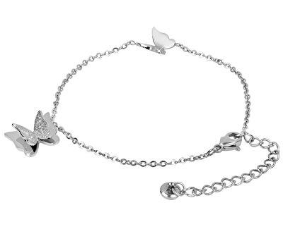 Ocelový motýlí náramek