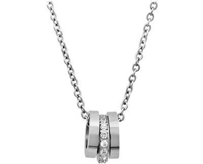 Troli Ocelový náhrdelník s něžným přívěskem