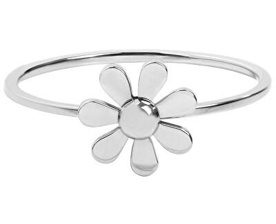 Troli Ocelový prsten s kytičkou