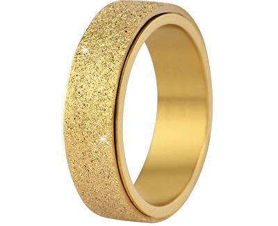 Ocelový snubní prsten zlatý/třpytivý