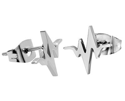 Originální ocelové náušnice Srdeční tep