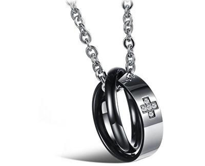 Originálne partnerský náhrdelník pre pánov KNSC-064-BL