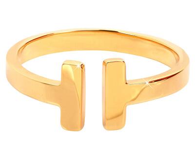 Troli Otevřený pozlacený prsten z oceli