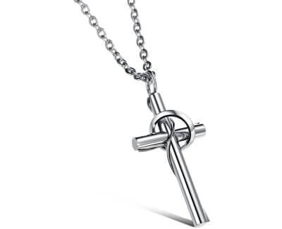 Oceľový náhrdelník Krížik KNSC-003